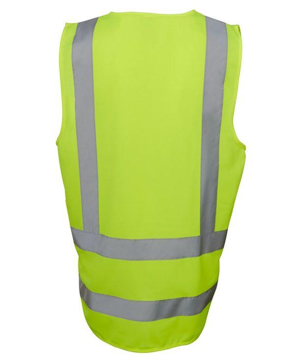 Hi Vis Yellow Safety Vest Drop Tail Pattern 6DNDV