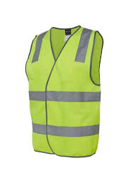 Hi Vis Yellow Reflective Safety Vest 6DNSV