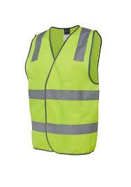 Hi Vis Yellow Reflective Safety Vest 6DNSV