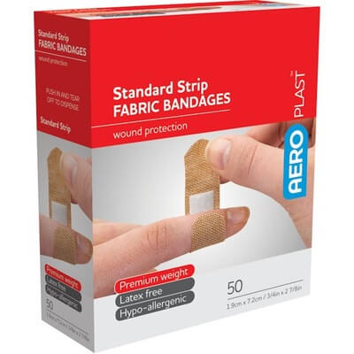 Fastaid Adhesive Plastic Strips 50 Pack