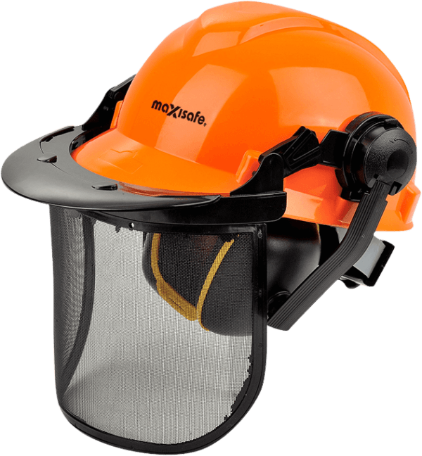 Maxisafe Forestry Kit with Mesh Visor-Muffs Complete
