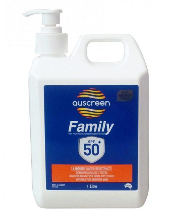 SPF 50-Sunscreen 1 liter Pump