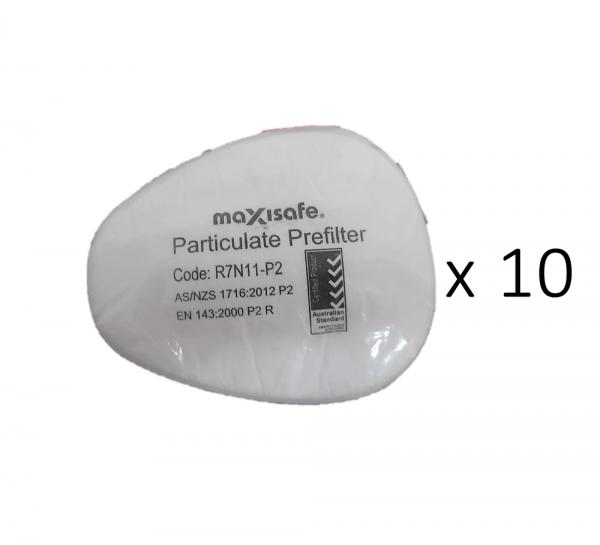 MaxiGuard P2 Particulate Prefilter 10 pack