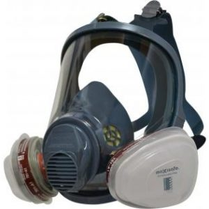 Maxiguard Full Face Silicone Respirator with Twin A1P2 Filter