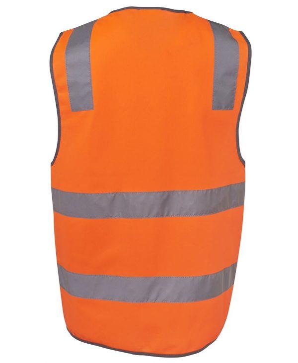 Hi Vis Orange Reflective Safety Vest 6DNSV