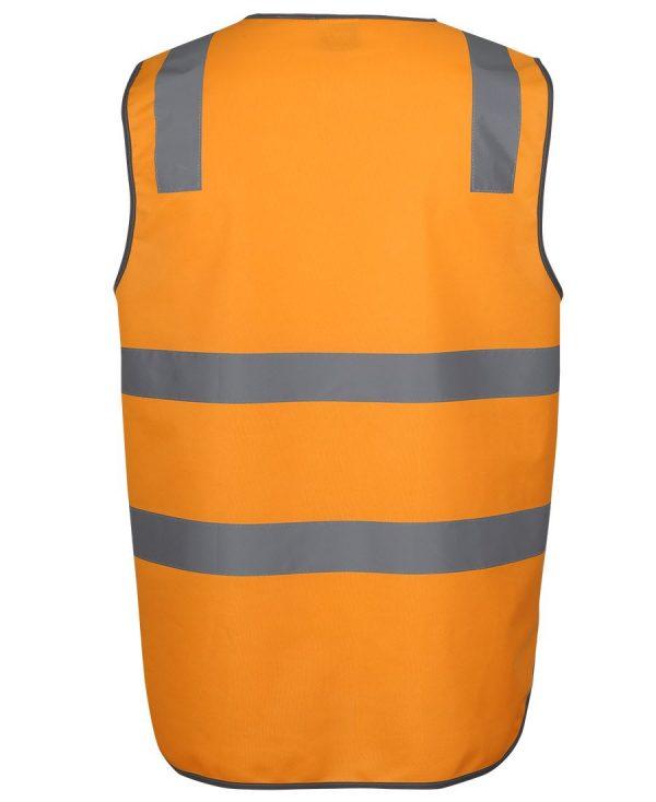 Aus Railway Hi Vis Orange Reflective Safety Vest With Zipper