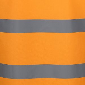 Aus Railway Hi Vis Orange Reflective Safety Vest With Zipper