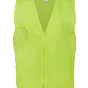 Hi Vis Zip Yellow Safety Vest 6HVSZ