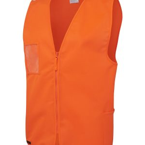 Hi Vis Zip Orange Safety Vest 6HVSZ
