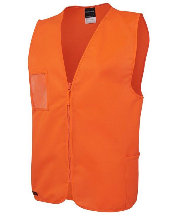 Hi Vis Zip Orange Safety Vest 6HVSZ