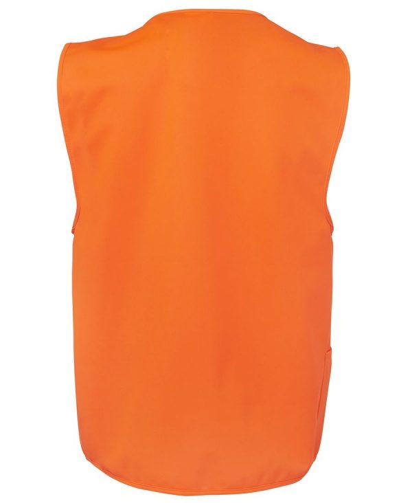 Hi Vis Zip Yellow Safety Vest 6HVSZ