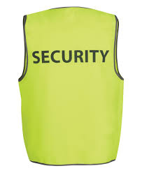 Hi Vis Yellow Security Safety Vest 6HVS5