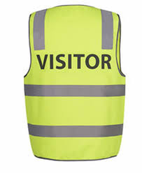 Hi Vis Reflective Yellow Visitor Safety Vest 6DNS7