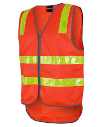 Vic Roads Orange Safety Vest With Zip 6DVRV
