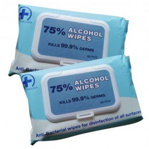 Antibacterial Isopropyl Alcohol Wipes 80 Pack