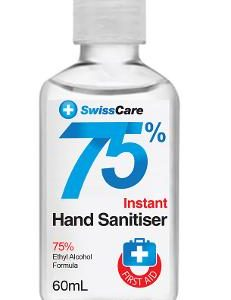 SwissCare 75% Alcohol Hand Sanitiser 60ml