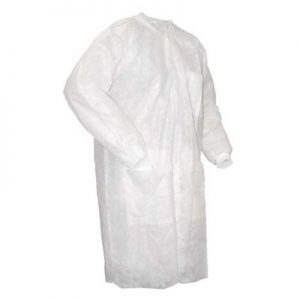 Disposable Lab Coats Non Woven Double Stitched